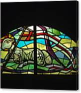 Lamb Stained Glass Window Canvas Print