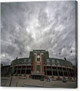 Lambeau Field Clouds Canvas Print