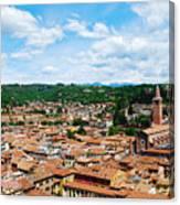 Lamberti Tower View Of Verona Italy Canvas Print