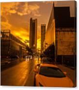 Lamborghini Sunrise Canvas Print