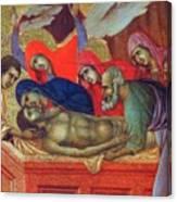 Lamentation Of Christ Fragment 1311 Canvas Print