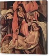 Lamentation Over The Dead Christ 1490 Canvas Print