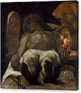 Lamentation Over The Dead Christ Canvas Print