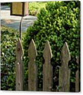 Lamp And Gate Canvas Print