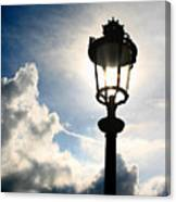 Lamp Post At The Louvre Canvas Print
