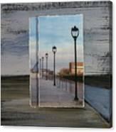 Lamp Post Row Layered Canvas Print