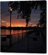 Lamplight And Daybreak  Canvas Print