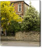 Lamppost On A Street Bend. Canvas Print