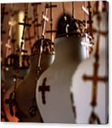 Lamps Inside The Church Of The Holy Sepulchre, Jerusalem Canvas Print