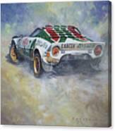 Lancia Stratos 1976 Rallye Sanremo Canvas Print