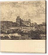L'ancien Louvre D'apr?s Une Peinture De Zeeman, 1651 (the Old Louvre, From A Painting By Zeeman, L651) Canvas Print