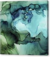Land And Water Abstract Ink Painting Canvas Print