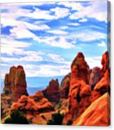 Land Of Moab - Watercolor Canvas Print