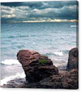 Land Water Sky Canvas Print