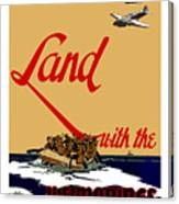 Land With The Us Marines Canvas Print