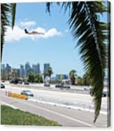 Landing In San Diego Canvas Print
