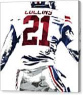 Landon Collins New York Giants Pixel Art 1 Canvas Print