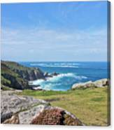 Land's End And Longships Lighthouse Cornwall Canvas Print
