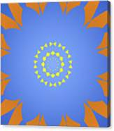 Landscape Abstract Blue, Orange And Yellow Star Canvas Print