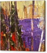 Landscape Abstract In Purple Canvas Print