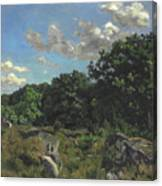 Landscape At Chailly Canvas Print