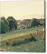 Landscape At Mornex Canvas Print