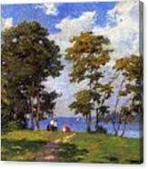 Landscape By The Shore Aka The Picnic Edward Henry Potthast Canvas Print
