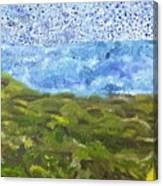 Landscape Dots Canvas Print