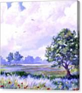Landscape In Blues Canvas Print