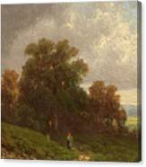 Landscape In The Loisach-valley Canvas Print