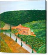 Landscape In Tuscany Canvas Print