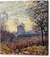 Landscape Near Louveciennes Canvas Print