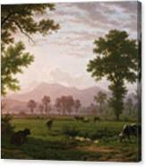 Landscape Near Lucerne With View To Mount Rigi Canvas Print