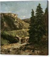 Landscape Near Ornans Canvas Print