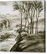 Landscape Near Osny  Canvas Print