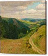 Landscape Near Schleiden In The Eifel Canvas Print