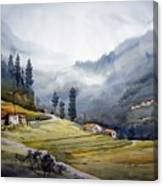 Landscape Of Himalayan Mountain Canvas Print