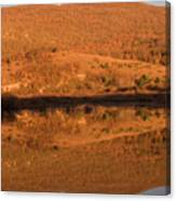 Landscape Perfectly Reflected In Palsko Lake Canvas Print
