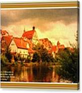 Landscape Scene - Germany L A With Decorative Ornate Printed Frame. Canvas Print