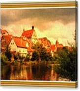 Landscape Scene - Germany. L B With Decorative Ornate Printed Frame. Canvas Print