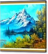 Landscape Scene Near Virginiahurst L A With Alt. Decorative Ornate Printed Frame. Canvas Print