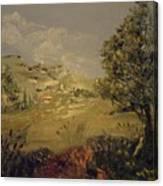 Landscape Study With Pallette Knife Canvas Print