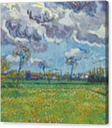 Landscape Under A Turbulent Sky Canvas Print