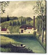 Landscape With A Fisherman Canvas Print