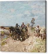 Landscape With A Hay Cart Canvas Print