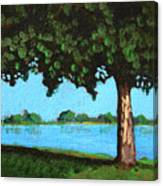 Landscape With A Lake And Tree Canvas Print