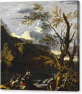 Landscape With A Lake Canvas Print