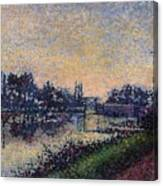 Landscape With A Lock 1885 Canvas Print