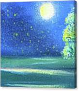 Landscape With A Moon Canvas Print