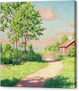 Landscape With A Red Cottage Canvas Print
